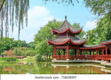 pavillion at Juzhou park,Changsha,Hunan,China