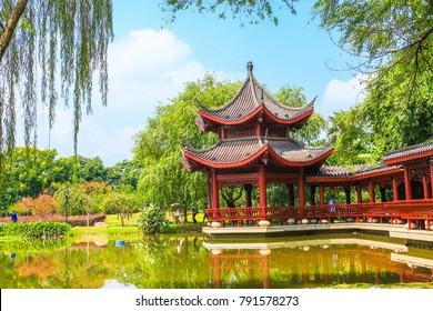 pavillion at Juzizhou park,Changsha,Hunan,China