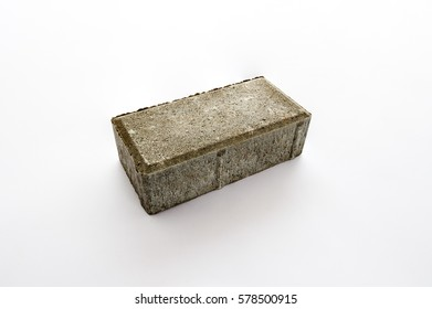 Paving brick on a white background