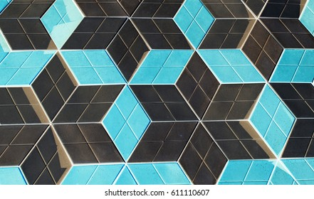 Paving slab as background in inversion