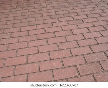 Paving slab in perspective, background