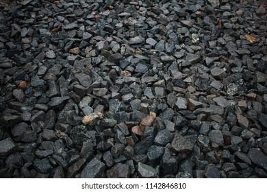 Paving stone on a dark background