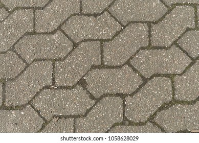 paving stone pattern, texture in gray
