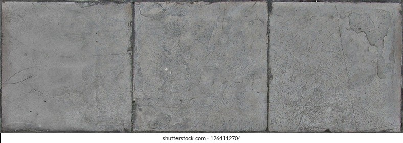 Paving stone texture, flat stone or brick used to make a hard su - Shutterstock ID 1264112704
