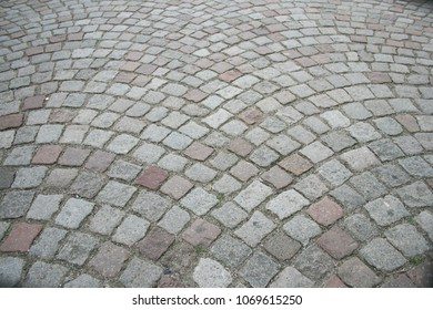 Paving stones in the old street