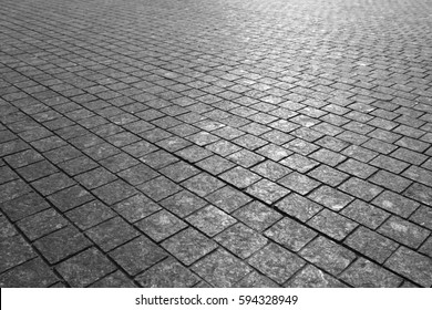 Paving Stones Road Texture black and white