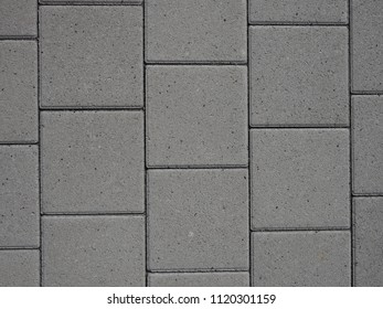 Paving stones walkway close up