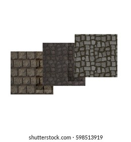 paving stonework catalog and booklets. 3D rendering.