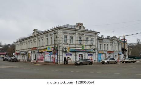 Pavlovo, Russia - January 2, 2018: st. Lunacharsky