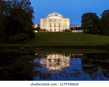 Pavlovsk Palace at night. Season of white nights. Saint-Petersburg, Russia