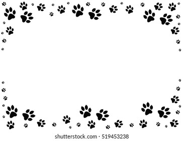 Dog paw print images stock photos vectors shutterstock - Paw print wall border ...