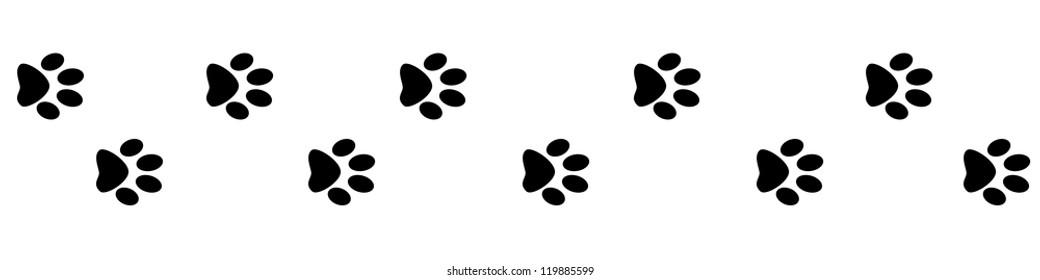 cat paw print images  stock photos   vectors shutterstock bear paw print border clip art paw print page border clipart