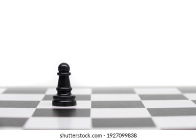 Pawn chess figure isolated in white background, pawn concept