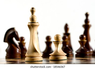 Pawn and a queen against all