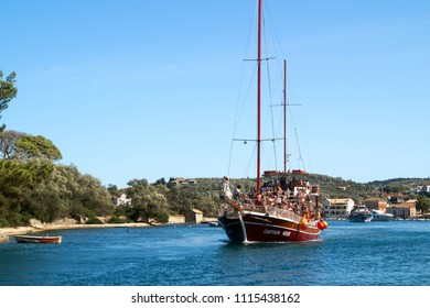 Paxoi, Greece, 30 August 2013. Cruise in Paxoi island, Ionian sea