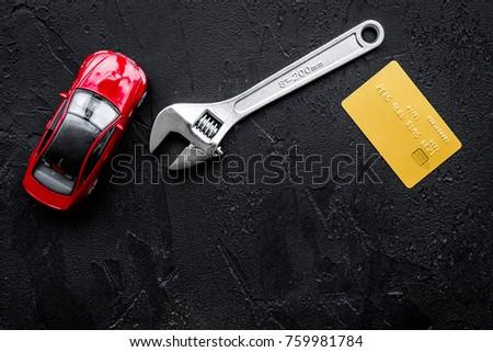 Pay Car Repair Wrench Near Car Stock Photo Edit Now 759981784
