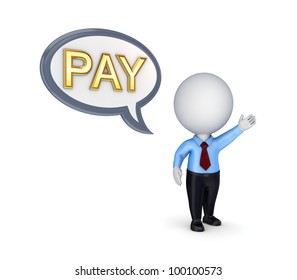PAY concept.Isolated on white background.3d rendered.