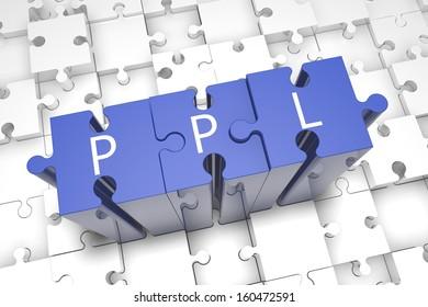 Pay per Lead - puzzle 3d render illustration