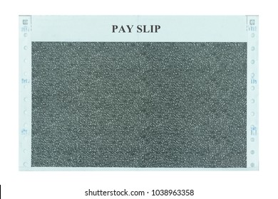 pay slip and salary slip isolated white background with clipping path.