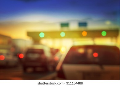 pay for using highway and motorway, abstract bokeh of light