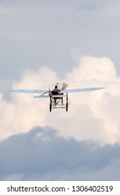Payerne, Switzerland - August 29, 2014: Vintage Bleriot XI aircraft owned and operated by Mikael Carlson.