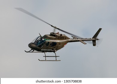 Payerne, Switzerland - September 1, 2014: Austrian Armed Forces (Austrian Army) Bell OH-58B military utility helicopter.