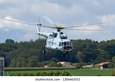 Payerne, Switzerland - September 1, 2014: Croatian Air Force and Air Defence Mil Mi-8 Military helicopter.