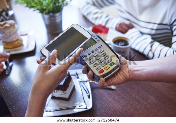 Paying for coffee by mobile phone