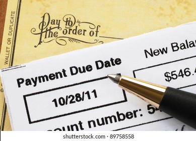 Paying the credit card bill on time concept of financial health