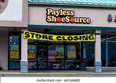 Payless Shoe Source Brick And Mortar Company Closing Store - Taken in Bangor, Maine