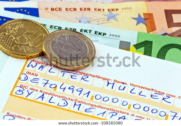 Payment Form Transfer Iban Bic Code Stock Photo (Edit Now) 108585080