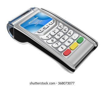 Payment GPRS Terminal, isolated on white