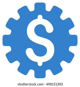 Payment Options icon. Glyph style is flat iconic symbol with rounded angles, cobalt color, white background.