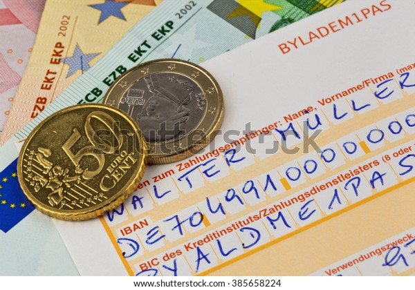 Payment Slip Iban Number Stock Photo (Edit Now) 385658224