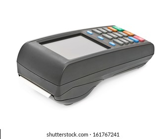 payment terminal, on white background isolated