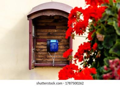 payphone on the street lviv