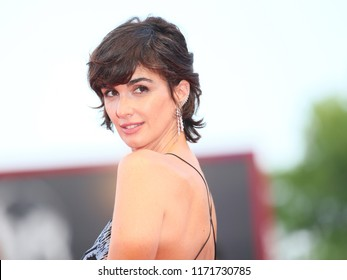Paz Vega walks the red carpet ahead of the 'Roma' screening during the 75th Venice Film Festival at Sala Grande on August 30, 2018 in Venice, Italy.