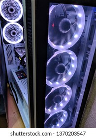 PC Computer tower with illuminated fans