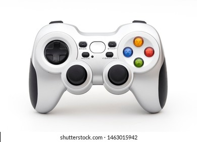 PC wireless game controller (gamepad) on a white background.