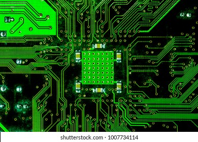 PCB Circuit Board Background, Flat top view