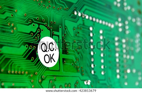 PCB with sticker of quality control