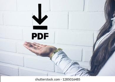 PDF Download web button .