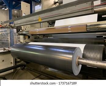 PE film roll, black roll, stretch film, shrink film, plastic roll, polyethylene, plastic film, extrusion machine, mulchfolie