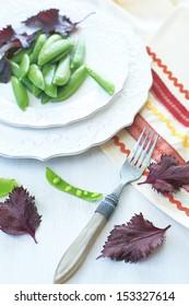 pea and leaf
