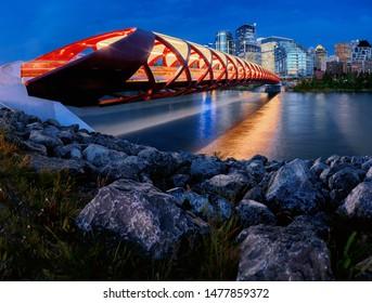 Peace Bridge at blue hour