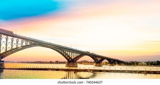 Peace Bridge, Buffalo, NY.