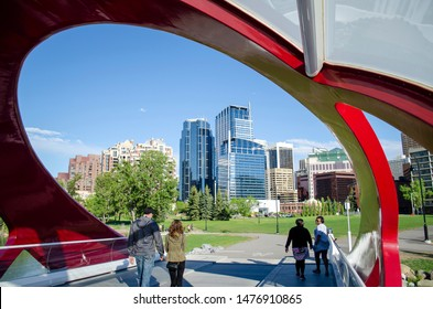 Peace Bridge in Calgary Alberta, Canada