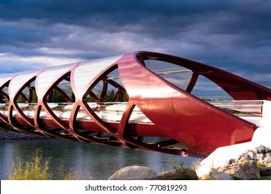 Peace bridge in Calgary, Canada
