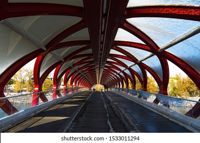 Peace Bridge in downtown Calgary, Alberta, Canada.