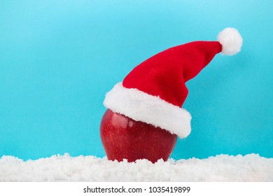 Peace fruit Christmas hat red apple